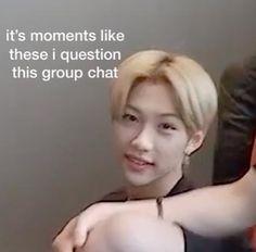 Funny Kpop Memes, Kid Memes, Stupid Memes, Funny Relatable Memes, Cartoon Memes, Bts Meme Faces, Funny Faces, Memes Chinos, Jyp Artists