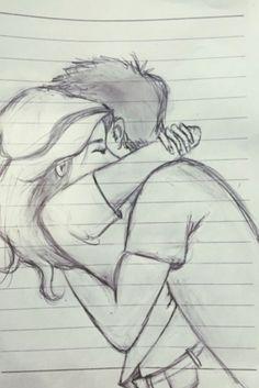 Easy Pencil Drawings, Pencil Sketching, Pencil Sketch Art, Disney Pencil Drawings, Easy Disney Drawings, Sketch Paper, Girl Drawing Sketches, Art Drawings Sketches Simple, Easy Love Drawings