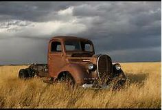 Rusty truck in the Namibia desertt