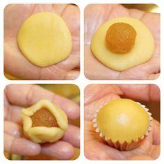 steps Pineapple Cookies, Pineapple Tart, Pineapple Recipes, Asian Desserts, Just Desserts, Cupcakes, Cupcake Cakes, Malaysian Dessert, Cookie Recipes