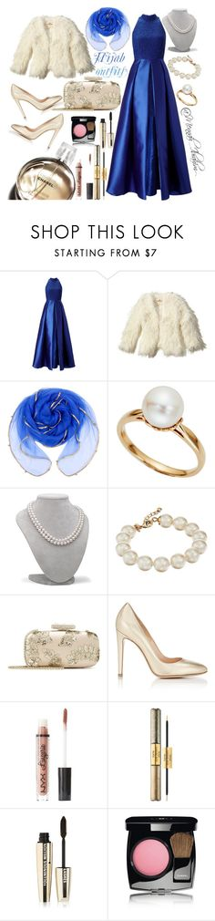 """""""#Hijab_outfits #Soirée_hijab"""" by mennah-ibrahim ❤ liked on Polyvore featuring Adrianna Papell, Hollister Co., Tara, Kate Spade, Oscar de la Renta, Gianvito Rossi, Chanel, Charlotte Russe, tarte and L'Oréal Paris"""