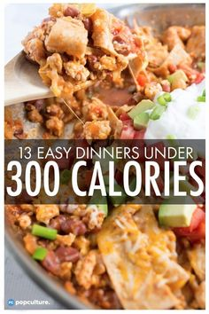13 Skinny Dinners Under 300 Calories. 13 Skinny Dinners Under 300 Calories. 13 Skinny Dinners Under 300 Calories Low Calorie Dinners, No Calorie Foods, Low Calorie Recipes, Diet Recipes, Under 300 Calorie Meals, Calorie Intake, Juice Recipes, Diet Foods, Pasta Recipes
