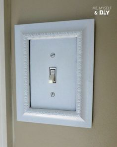 How to frame your light switch plates DIY @istandarddesign