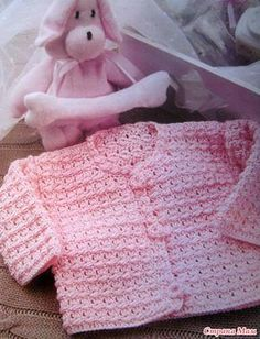 Розовая кофточка крючком для девочки. - Страна Мам