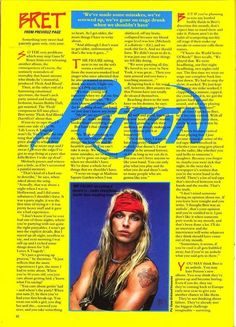 Why is the first sentence talking about Guns and Roses? Bret Michaels Poison, Bret Michaels Band, Poison Albums, 80s Hair Bands, Glam Metal, Ex Husbands, Music Bands, Rock Bands, My Music