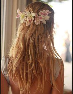 Cheveux été fleurs