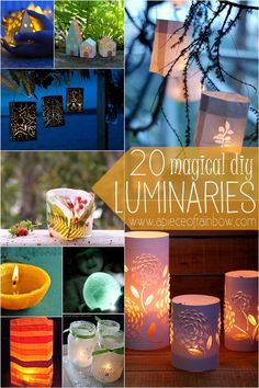 Great tutorials on 20 Magical DIY Luminaries you can make for under $1 | A Piece of Rainbow