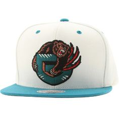 8c96daf884b Mitchell And Ness Vancouver Grizzlies STA3 Wool Snapback Cap (white   teal)