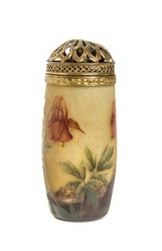 A Daum Enameled Cameo Glass Vase, Height 4 1/2 inches.