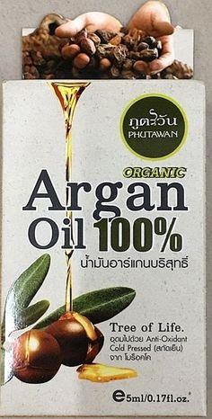 Organic Argan oil 100 % Omega 6 Helps Skin Against Agin  Reatore Damaged Hair 1x #PHUTAWAN