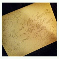 Design in progress Wedding Typography, Calligraphy Envelope, Gold, Design, Design Comics