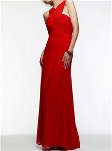 Elegant A Line Floor Length Cross Straps Back Evening Prom Dress