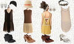 20er Jahre Mode - Hängerkleider und Kopfschmuck