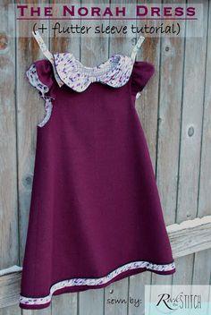 Rock the Stitch: The Norah Dress pattern tour + Flutter Sleeve tutorial