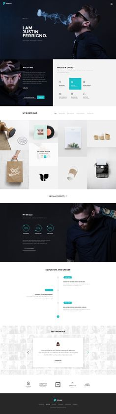 Polar Web Design Inspiration by Loancee