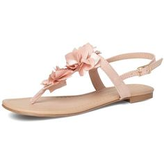 Dorothy Perkins Nude Flower Corsage Sandals ($25) ❤ liked on Polyvore featuring shoes, sandals, nude, blossom footwear, nude shoes, dorothy perkins, dorothy perkins shoes and flower shoes