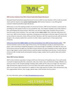 For more details visit http://hospitalityfurniture.com.au/#Custom_Made_Banquette