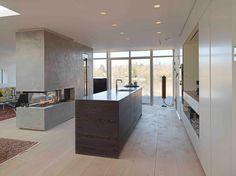 - Røget eg - hvid olie - Virum Kitchen Island, Divider, Interior Design, Room, Furniture, Kitchens, Home Decor, Island Kitchen, Nest Design