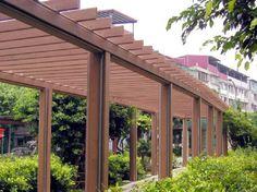 Outdoor pest control wood plastic grape frame material