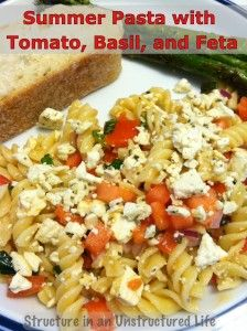 Summer Pasta Recipe on Structure in an Unstructured Life
