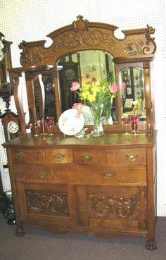 American Tiger Oak Sideboard - Morris Antiques