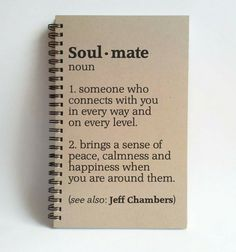 Soul Mate definition 5x8 custom Journal by TheJournalCompany