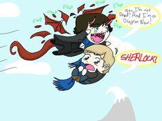 Hobbitlock by wiggelylovesmusic on deviant art! So amazing! #Smaug #Sherlock #John #Cute