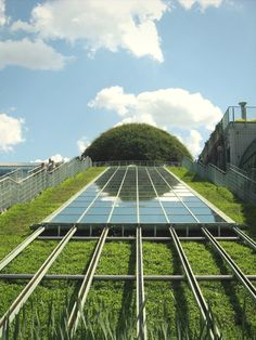 The Roof-top Gardens at Warsaw University Library, Poland