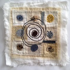 A textile Art piece from Tina Jensen Art Studio Vintage fabric handstitched Measures 8 x 8 inch Thank you so much for visiting. Sashiko Embroidery, Embroidery Art, Boro Stitching, Stitch Witchery, Creative Textiles, Quilting, Fabric Journals, Sewing Art, Fabric Manipulation