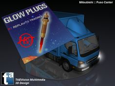 247 - #3D TAEVision #mechanical #design #HKT #glowplugs #Parts #AutoParts #Aftermarket #Mitsubishi #Fuso #Canter #Trucks