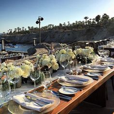 Dinner by the water!