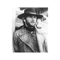 Clint Eastwood - High Plains Drifter Photo ($13) ❤ liked on Polyvore featuring home, home decor, wall art, clint eastwood poster, photo poster and photo wall art