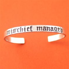 Harry Potter Mischief Managed Cuff Bracelet