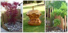 19 idei de decoruri noi pentru gradina ta, decoruri confectionate din lemn