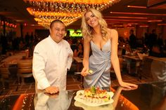 Chef Joseph Elevado serves Sports Illustrated Swimsuit Issue cover star Hailey Clauson fresh seafood on her 21st birthday at Andrea's located inside Wynn Las Vegas and Encore.