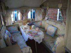 Vintage caravan in shabby chic style
