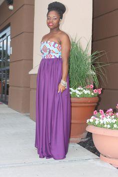 Ankara chiffon dress