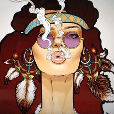 Idea: Captures the feel the free love, free drugs, good times, no worries attitude. Doesnt capture the protesting aspect of Woodstock. Or the time period. Hippie Style, Art Hippie, Hippie Love, Hippie Chick, Bohemian Art, Hippie Drawing, Bohemian Design, Boho Hippie, Bohemian Style