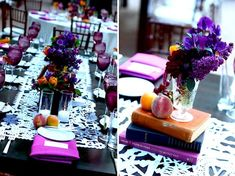 Table & Book Centerpiece-Sweet & Saucy-Camille Styles Events
