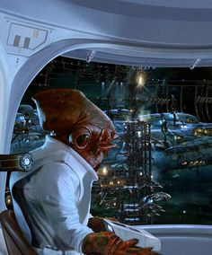 Star Wars - Admiral Ackbar by Paul Youll *