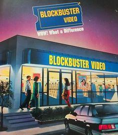 Blockbuster Video stores.