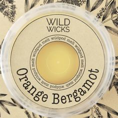Wild Wicks Orange Bergamot Wildpod Soy Melt