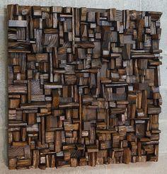 kunstwerk met restanten hout