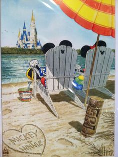 Mickey and Minnie relaxing on the beach near Walt Disney World. Walt Disney, Disney Nerd, Disney Fun, Disney Magic, Disney Mickey, Disney Parks, Disney Fanatic, Disney Addict, Images Disney