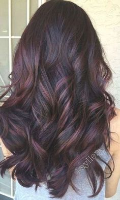 Hair Color For Women, Color Your Hair, Hair Color For Black Hair, Brown Hair Colors, Gray Hair, Red Ombre Hair, Plum Hair, Hair Color Ideas For Brunettes Balayage, Henna Hair Color