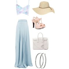 A fashion look from November 2014 featuring River Island tops, Matthew Williamson skirts and 77Queen sandals. Browse and shop related looks.