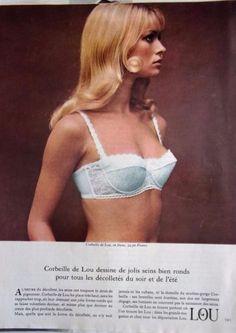 Collectibles Fine Publicite Advertising 014 1961 Lou Jeune France Soutien Gorge