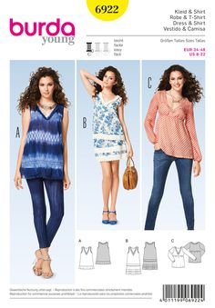 Simplicity Creative Group - Burda Style Tops, Shirts, Blouses 6922