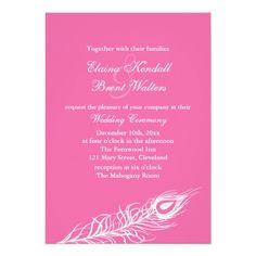 1920's Feathers Wedding Invitation / Gatsby