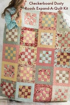 Checkerboard Dusty Roads Expand-A-Quilt Kit by Krystal Jakelwicz featuring Boundless Dusty Roads - #quilting #affiliate